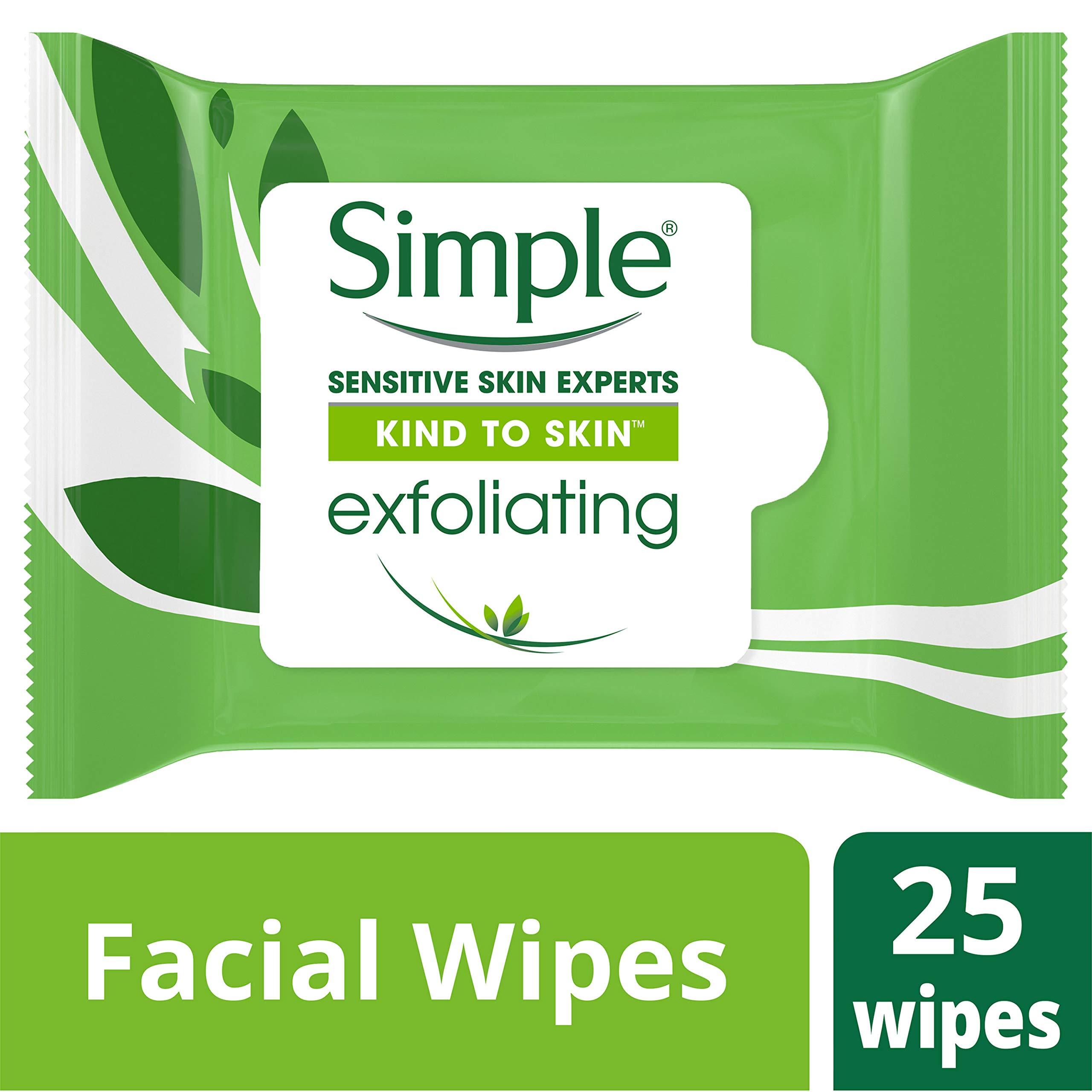 Simple Exfoliating Wipes, 25 Count
