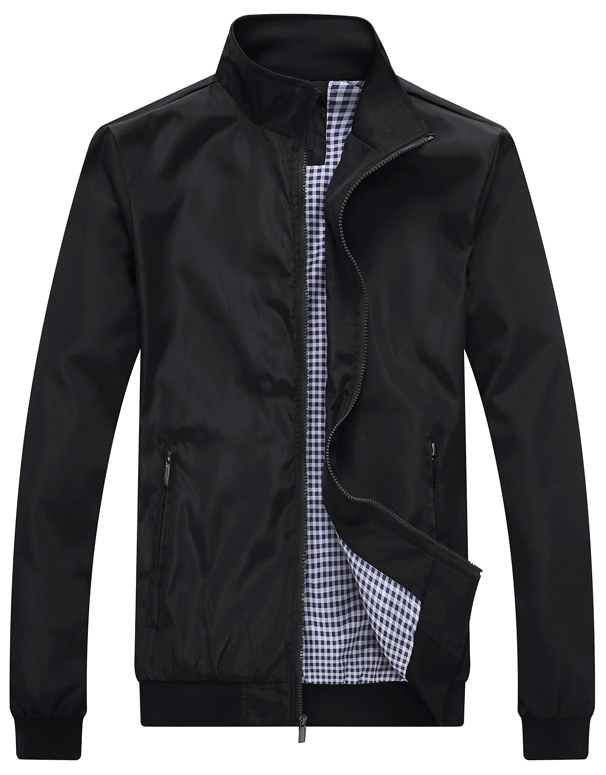 Wantdo Men's Lightweight Bomber Jacket Spring Windbreaker Casual Zip Outerwear