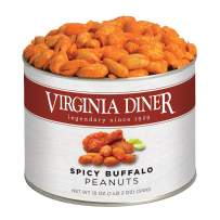 Virginia Diner - Gourmet Natural Extra Large Spicy Buffalo Virginia Peanuts, 18 Ounce Tin