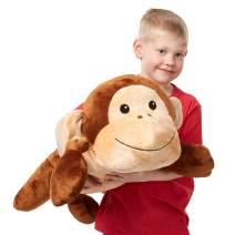 Melissa & Doug Cuddle Monkey Jumbo Plush Stuffed Animal with Activity Card