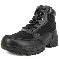 Milforce Men's 6 Inch Military Tactical Ankle Boots Lightweight Police Duty Work Shoes with Side Zipper, Black