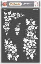 CrafTreat Flowers Stencils for painting on Wood, Canvas, Paper, Fabric, Floor, Wall and Tile - Bunch of Blooms - Size: A4 - Reusable DIY Art and Craft Stencils for Home Decor - Flower templates