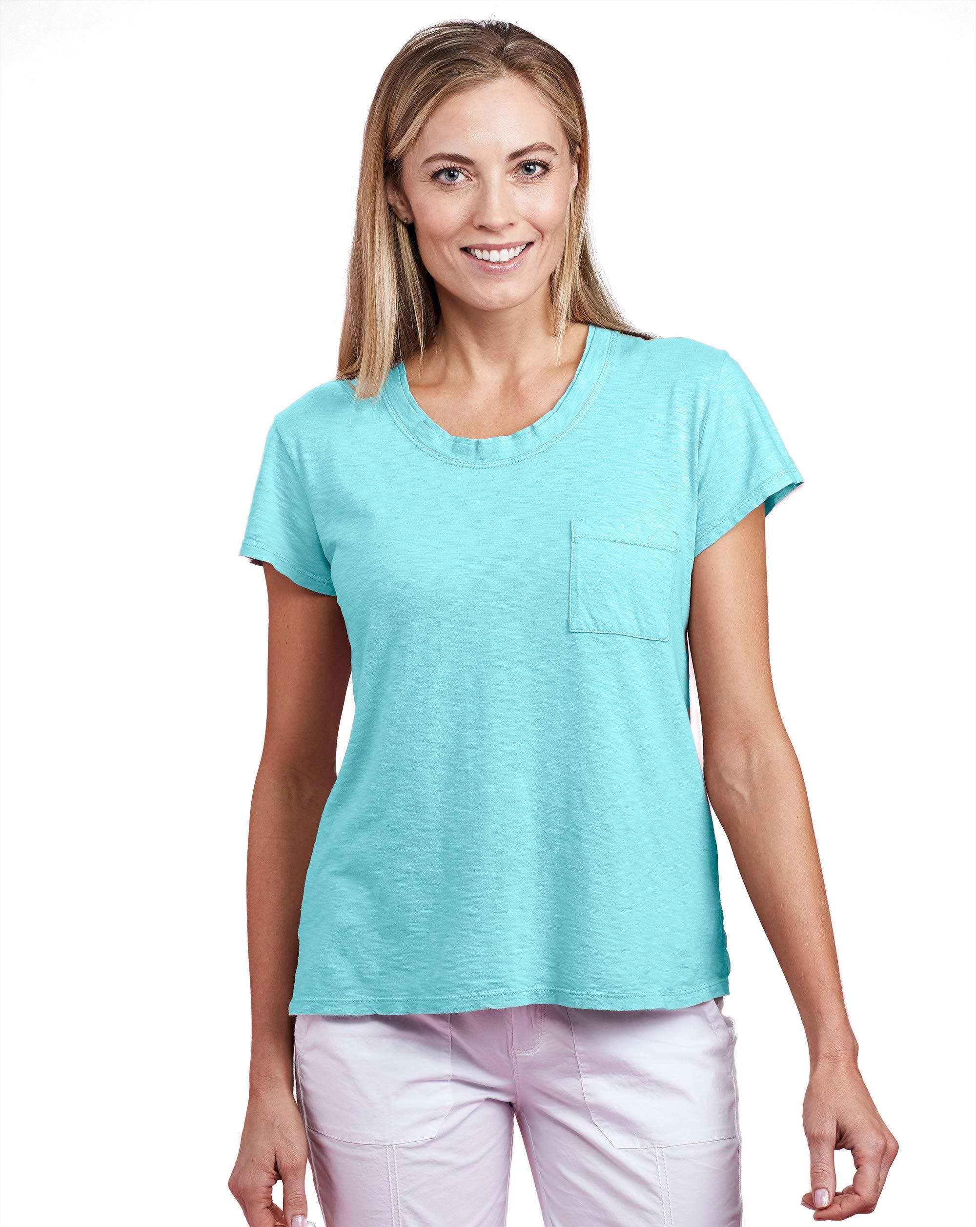Fresh Produce Womens Summer Beach Front Pocket Cotton Scoop Neck Janey T-Shirt
