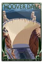 Lantern Press Hoover Dam Aerial 31845 (6x9 Aluminum Wall Sign, Wall Decor Ready to Hang)