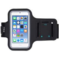 i2 Gear Running Exercise Armband Compatible with iPod Touch 7th, 6th and 5th Generation Devices with Adjustable Sport Band, Reflective Border, Touch Screen Protection and Key Holder