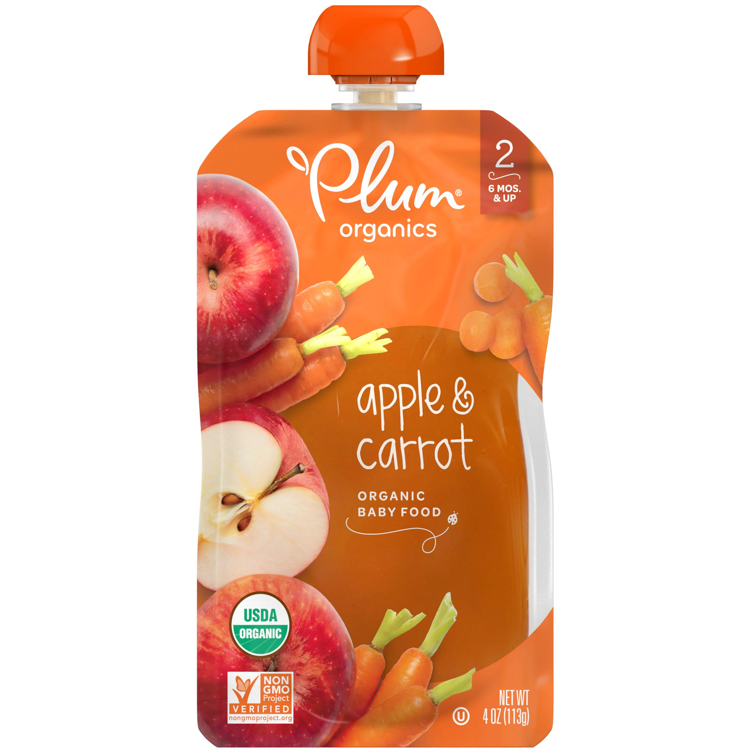 Plum Organics Stage 2 Organic Baby Food, Pear & Mango, 4 Ounce Pouch (Pack of 12)