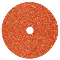 "3M Cubitron II Fibre Disc 987C, Ceramic Aluminum Oxide, 4-1/2"" Diameter, 60+ Grit, Orange (Pack of 100)"