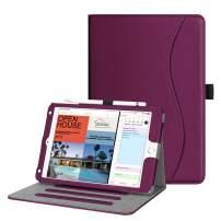 "Fintie Case for iPad Mini 5 2019 / iPad Mini 4 - [Corner Protection] Multi-Angle Viewing Smart Folio Cover w/Pocket, Pencil Holder, Auto Wake/Sleep for iPad Mini 5th Generation 7.9"", Purple"