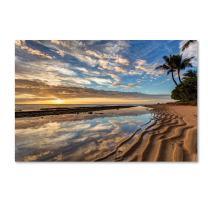 Kauai Kailani Sunrise by Pierre Leclerc, 22x32-Inch Canvas Wall Art