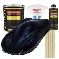 Restoration Shop - Dark Midnight Blue Pearl Acrylic Enamel Auto Paint - Complete Gallon Paint Kit - Professional Single Stage High Gloss Automotive, Car Truck, Equipment Coating, 8:1 Mix Ratio 2.8 VOC