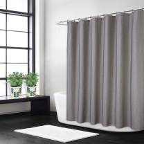 CAROMIO Shower Curtain Fabric 60x78 Inch, Flax Linen Like 240GSM Heavy Weight Cloth Shower Curtain with Hooks Hotel Luxury Washable, Grey