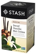 Stash Tea Decaf Vanilla Nut Crème Black Tea 18 Count Tea Bags in Foil (Pack of 6) (Packaging May Vary) Individual Decaffeinated Black Tea Bags for Use in Teapots Mugs or Cups, Brew Hot Tea or Iced Tea
