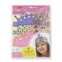 Melissa & Doug Simply Crafty Terrific Tiaras Jewelry-Making Kit (Makes 4 Tiaras, Great Gift for Girls and Boys - Best for 4, 5, 6, 7, 8 Year Olds and Up)