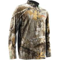Nomad Mens Cooling 1/4 Zip Top | Moisture Wicking Hunting Shirt with UPF 30+ Sun Protection