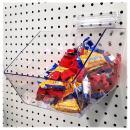 """Clear Pegboard Acrylic Bins, Medium Bin for Peg Wall - 6"""" L x 5.5"""" H x 9.5"""" D - 10 Pack"""