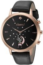 kate spade new york Women's KST23100 Grand Metro Black and Rose Gold Hybrid Smartwatch