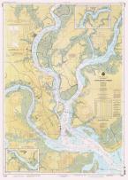 Historic Pictoric Map - Charleston Harbor, 1996 Nautical NOAA Chart - South Carolina (SC) - Vintage Wall Art - 24in x 33in