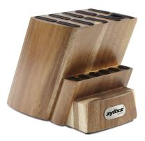 ZYLISS Control Wooden Knife Block - Kitchen Cutlery Storage - Knife Block Without Knives - 16 Slots With Steak Holders