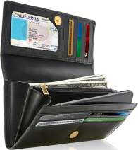 Leather Clutch RFID Wallets For Women - Large Womens Wallet Accordion Purse Organizer With Checkbook Cover Gifts For Women