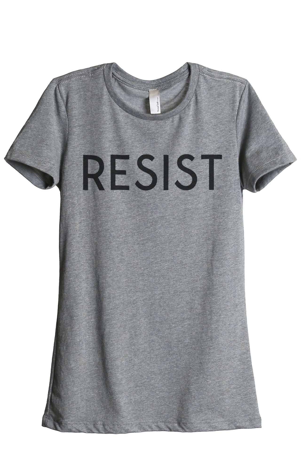 Thread Tank Resist Women's Fashion Relaxed T-Shirt Tee Heather Grey
