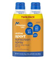 Mountain Falls Active Sport Sunscreen Continuous Spray, SPF 30 Broad Spectrum UVA/UVB Protection, Compare to Banana Boat, 6 Fluid Ounce (Pack of 2)