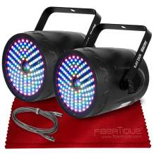 American DJ Startec Rayzer 2-in-1 LED & Laser Effect Lights for Instant Light Shows Accu-Cable 3-pin DMX Cable & Fibertique Microfiber Cleaning Cloth