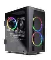 SkyTech Blaze II Gaming Computer PC Desktop - Ryzen 5 3600 6-Core 3.6GHz, GTX 1650 4G, 500G SSD, 8GB DDR4 3000, B450 MB, RGB, AC WiFi, Windows 10 Home 64-bit