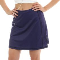 Sport-it Skort, Mid-Length Skirt Shorts with Side and Waistband Pockets, Tummy Control
