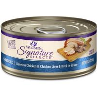 Wellness Core Signature Selects Natural Canned Grain Free Wet Cat Food Shredded Chicken & Chicken Liver