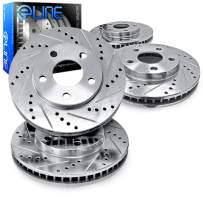 For 2013-2019 Nissan Sentra R1 Concepts eLine Front Rear Drill/Slot Brake Rotors Kit