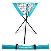 PowerNet Baseball Softball Portable Batting Practice Ball Caddy   Use During Training and Drills   Save Your Back No More Bending   Holds up to 60 Baseballs   Instant Setup   Team Colors