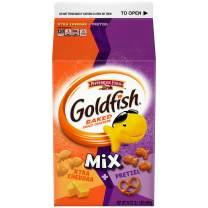 Pepperidge Farm Goldfish Mix Flavor Blasted Xtra Cheddar + Pretzel Crackers, 34 oz. Carton (Pack of 6)
