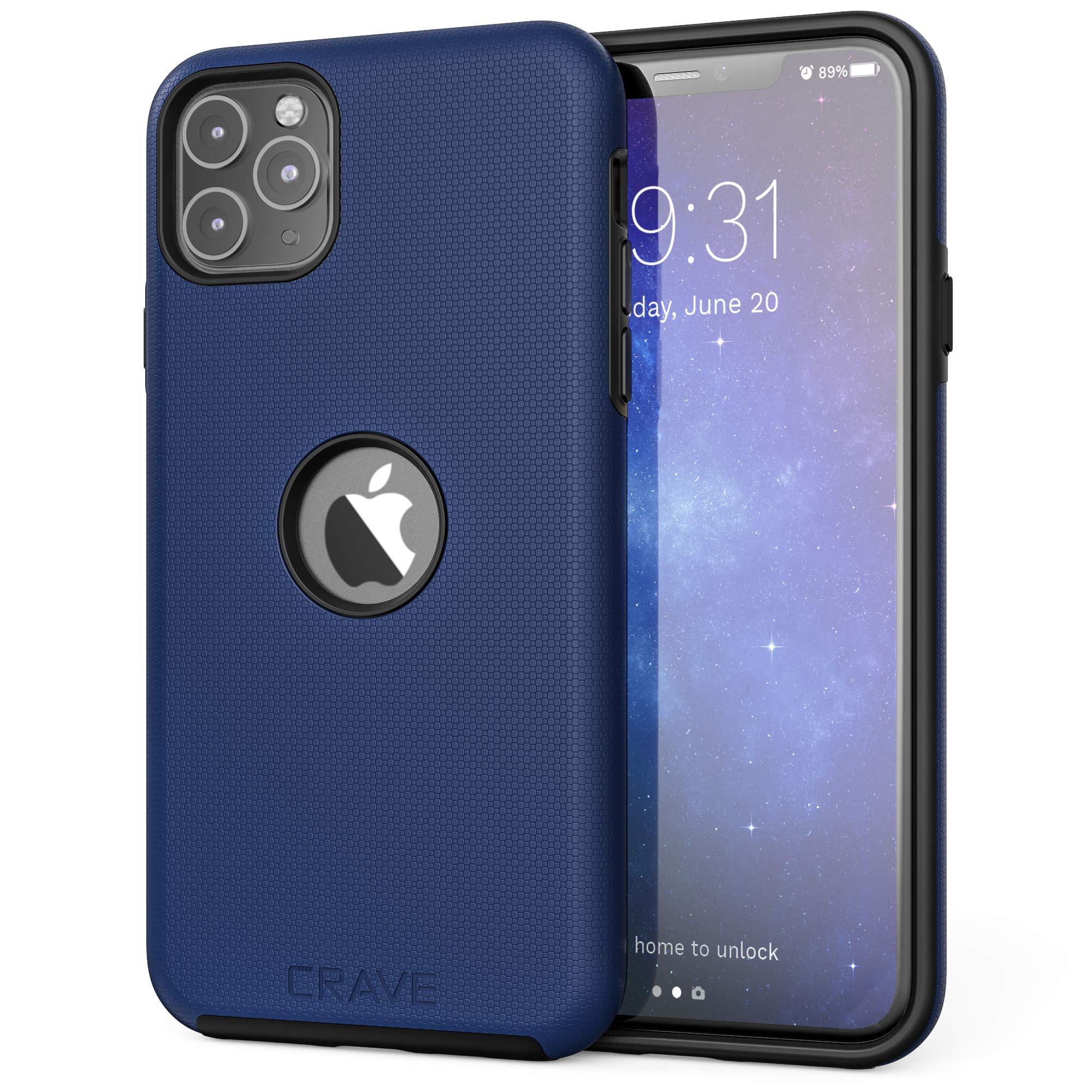 Crave iPhone 11 Pro Max Case, Dual Guard Protection Series Case for iPhone 11 Pro Max - Navy