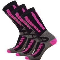 Pure Athlete Youth Ski Socks - Merino Wool Children Skiing/Snowboard Sock - Junior OTC Ski Socks
