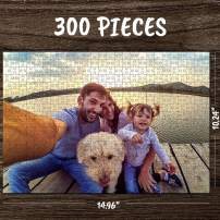 Personalized Custom Photo Jigsaw Puzzle for Adults 300 Pieces Custom Picture Puzzles DIY Puzzles from Photos Toys Gift Birthday Large Piece for Adults, Men, Women, Boys, Girls, Kids