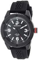 U.S. Marines Men's Black Silicone Strap Watch by Wrist Armor, F1/1001