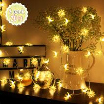 Moon String Light, Star String Light, LED Party Birthday Decoration Lights Waterproof Battery Operated Outdoor Indoor LED String Light Bedroom Star Fairy String Light Party Birthday Thanksgiving Gifts