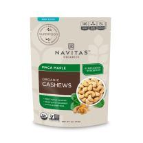 Navitas Organics Maca Maple Cashews, 4 oz. Bags (12 Pack) — Organic, Non-GMO, Gluten-Free, Refined Sugar-Free