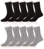 Kids Girls Boys Classics Athletic Cotton Soft Breathable School Uniform Seamless Crew Socks
