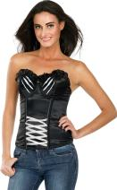 Secret Wishes DC Comics Justice League Superhero Style Adult Corset Top with Logo Catwoman, Black, Small