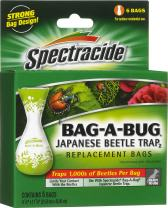 Spectracide HG-56903 Bug Japanese Beetle Trap Disposable Bags, 6-Count, 72, Brown/A