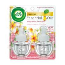 Air Wick Scented Oil Air Freshener, Virgin Islands, Twin Refills, 0.67oz (Pack of 2)