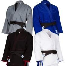 Athllete Kids Brazilian Jiu Jitsu BJJ Gi Kimonos Lightweight with Free White Belt