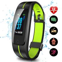 Updated 2019 Version High-End Fitness Tracker HR, Activity Trackers Health Exercise Watch with Heart Rate and Sleep Monitor, Smart Band Calorie Counter, Step Counter, Pedometer Walking for Men & Women