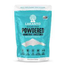 Lakanto Monkfruit Sweetener, 1:1 Powdered Sugar Substitute, Keto, Non-GMO (1.76 lbs)