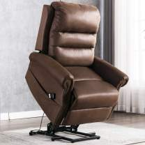 ANJ Electric Power Lift Recliner Chair for Elderly,Classic Single Sofa Reclining Chair with Nailhead Trim (Chocolate)