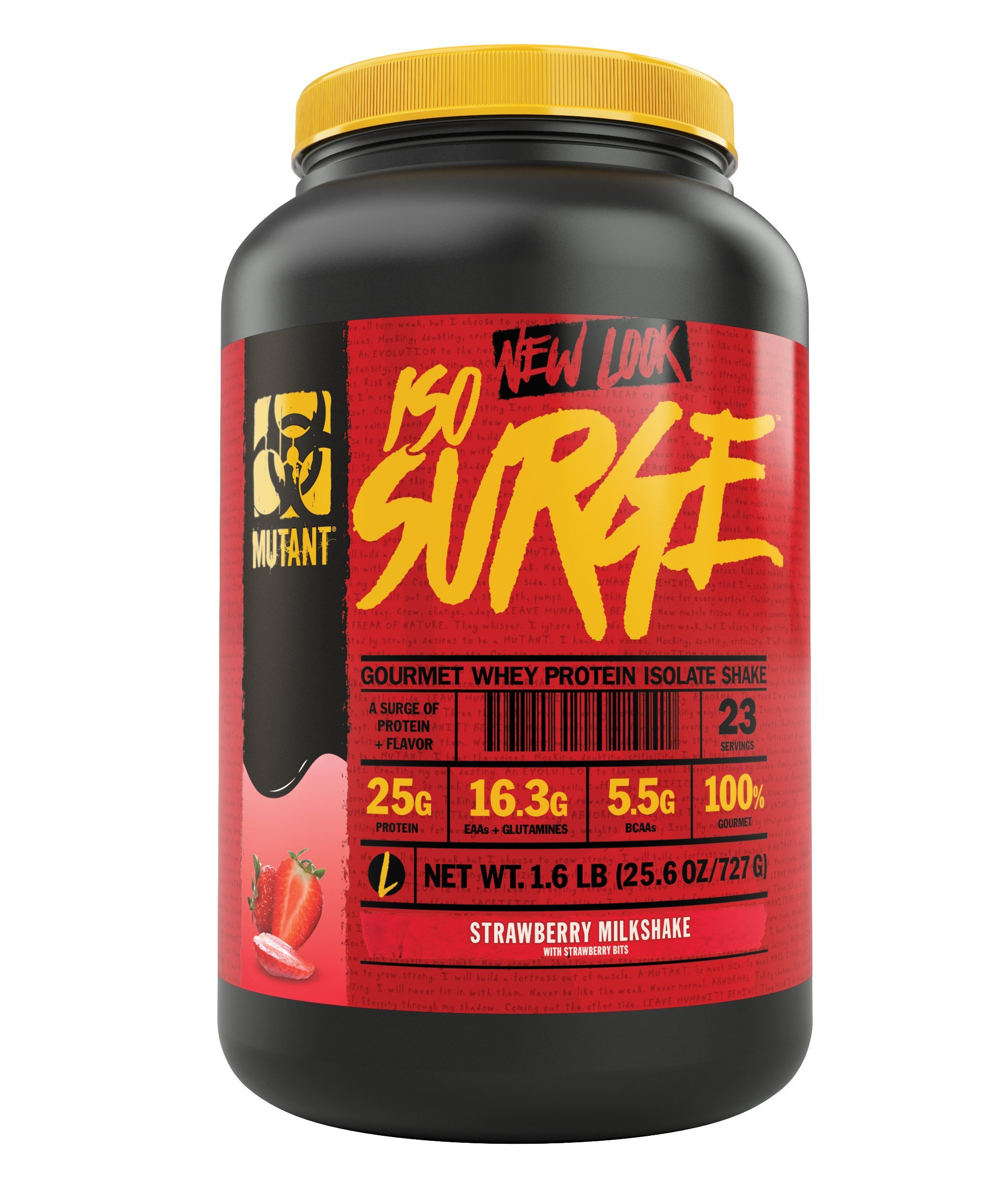 Mutant ISO Surge Whey Protein Powder Acts FAST to Help Recover, Build Muscle, Bulk and Strength, Uses Only High Quality Ingredients, 1.6 lb - Strawberry Milkshake