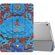"""MoKo Case Fit New iPad Air (3rd Generation) 10.5"""" 2019/iPad Pro 10.5 2017, Slim Lightweight Smart Shell Stand Cover with Translucent Frosted Back Protector, with Auto Wake/Sleep - Kingfisher Blue"""