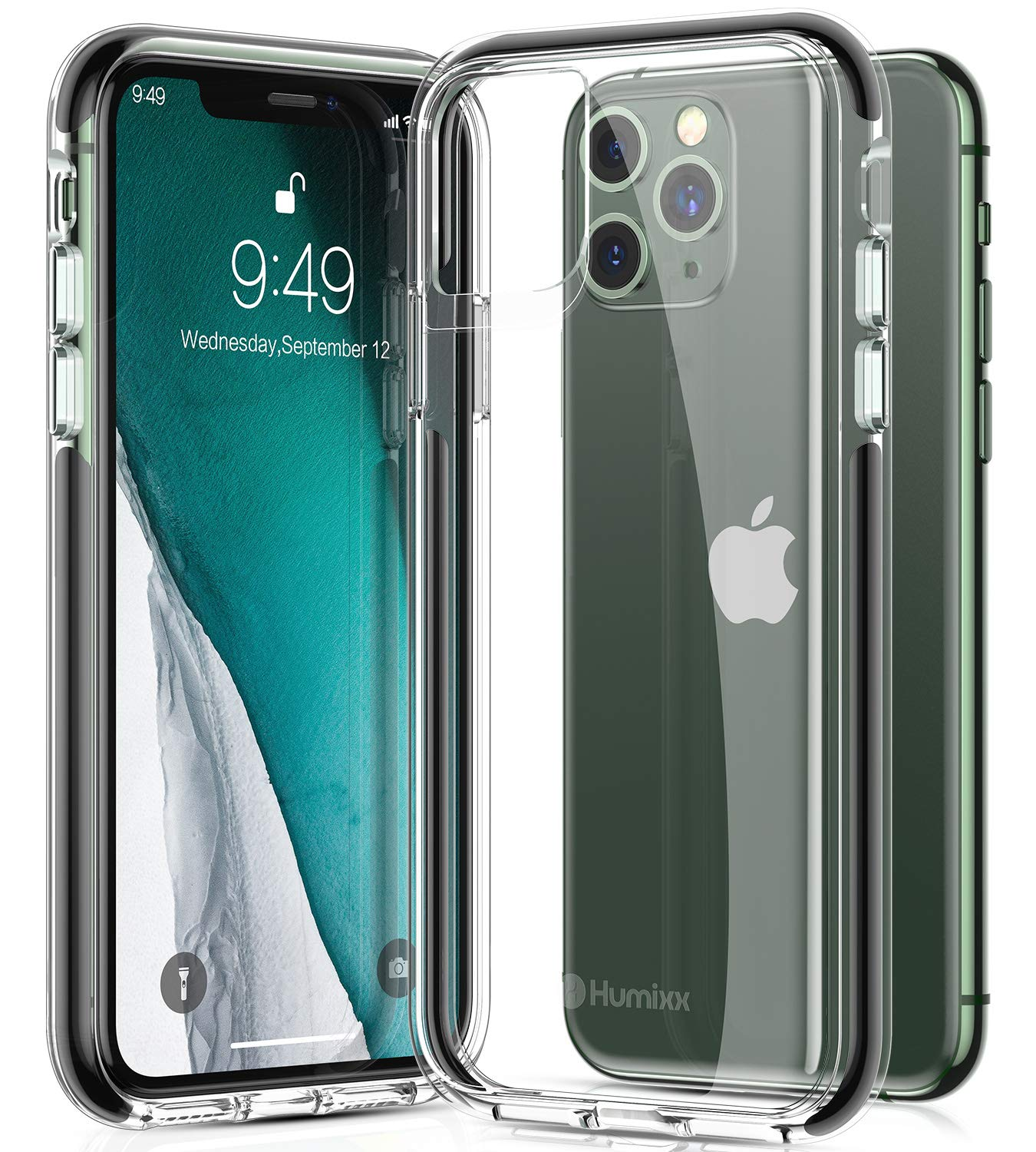 humixx Stronghold Series Clear iPhone 11 Pro Case [10FT Military Grade Drop Tested] [Protected by PloyOne] Shockproof Case Cover Designed for iPhone 11 Pro (NOT 11 OR 11 Pro Max)