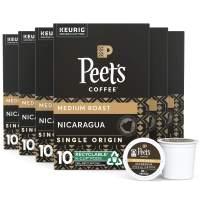 Peet's Coffee Single Origin Nicaragua, Medium Roast, 60 Count Single Serve K-Cup Coffee Pods for Keurig Coffee Maker